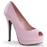 Pink Lakierowane 13,5 cm BELLA-12 Czółenka na wysokim obcasie szpilki