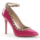 Pink Lakierowane 13 cm AMUSE-28 klasyczne szpilki damskie