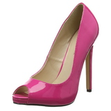 Pink Lakierowane 13 cm SEXY-42 klasyczne szpilki damskie