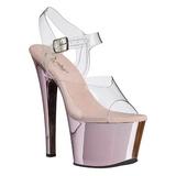 Pink Przeźroczysty 18 cm SKY-308 Wysokie obcasy platformie
