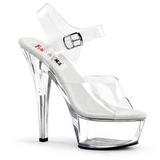 Przeźroczyste 15 cm BROOK-208 buty damskie na wysokim obcasie