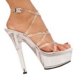 Przeźroczyste 15 cm KISS-206 High Heels Platformie Buty