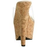 Przeźroczyste 16,5 cm Pleaser BEAU-601 Buty Klinowe Obcasy Korki