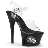 Przeźroczyste 18 cm Pleaser MOON-708SK Platformie buty high heels