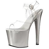 Przeźroczyste 19 cm TABOO-708 Chrom Platformie high heels obuwie