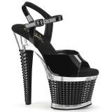Przezroczyste sandały 18 cm SPECTATOR-709 pleaser sandały na obcasie