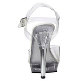 Przeźroczysty 13 cm LIP-108 Platformie high heels obuwie