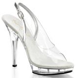 Przeźroczysty 13 cm LIP-150 Platformie high heels obuwie