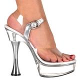 Przeźroczysty 14 cm SWEET-408 buty damskie na wysokim obcasie