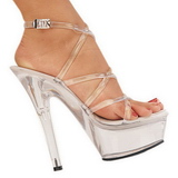 Przeźroczysty 15 cm KISS-206 High Heels Platformie Buty