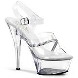 Przeźroczysty 15 cm KISS-208R buty damskie na wysokim obcasie