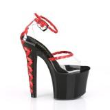 Przeźroczysty 18 cm LOVESICK-712 pleaser sandały z gorset obcasy