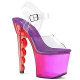Purpurowy 18 cm SCALLOP-708MCT Platformie buty high heels
