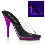 Purpurowy Neon 13 cm POISE-501UV Platformie Klapki