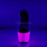 Purpurowy Neon 18 cm ADORE-708UV wysokie obcasy na platformie