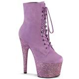 Purpurowy glitter 18 cm ADORE-1020FSMG botki do tańca pole dance