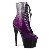 Purpurowy glitter 18 cm ADORE-1020OMB botki do tańca pole dance