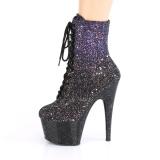 Purpurowy glitter 18 cm ADORE-1020OMBG botki do tańca pole dance