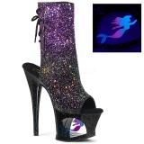Purpurowy glitter 18 cm MOON-1018MER botki do tańca pole dance