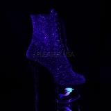 Purpurowy glitter 18 cm MOON-1020MER botki do tańca pole dance