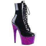 Purpurowy glitter 18 cm Pleaser ADORE-1020LG botki do tańca pole dance
