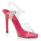 Różowe 11,5 cm FABULICIOUS GALA-08 Sandały wieczorowe z piętą