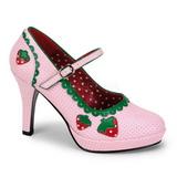 Różowe 11 cm CONTESSA-58 buty damskie na wysokim obcasie