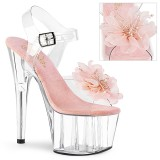 Różowe 18 cm ADORE-708BFL pleaser sandały z platformie