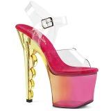 Różowe 18 cm SCALLOP-708MCT Platformie buty high heels