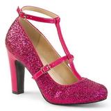 Różowe Glitter 10 cm QUEEN-01 duże rozmiary szpilki buty