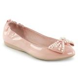 Różowe IVY-09 baleriny płaskie buty z perły