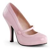 Różowe Lakierowane 12 cm CUTIEPIE-02 Buty na wysokim obcasie szpilki