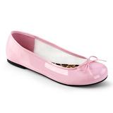Różowe Lakierowane ANNA-01 duże rozmiary baleriny buty