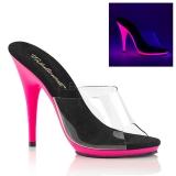 Różowe Neon 13 cm POISE-501UV Platformie Klapki