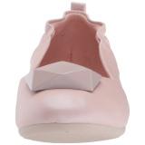 Różowe OLIVE-08 baleriny płaskie buty damskie