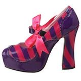 Różowe Purpurowy 13 cm KITTY-32 buty damskie na wysokim obcasie