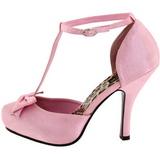 Różowe Satyna 12 cm CUTIEPIE-12 Buty na wysokim obcasie szpilki