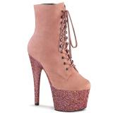Różowe glitter 18 cm ADORE-1020FSMG botki do tańca pole dance