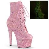 Różowe glitter 18 cm ADORE-1020GDLG botki do tańca pole dance