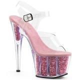 Różowe glitter 18 cm Pleaser ADORE-708G buty do tańca pole dance