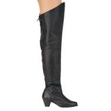 Skóra 6,5 cm MAIDEN-8828 długie kozaki za kolano damskie