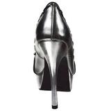 Skóra Ekologiczna 13,5 cm PIXIE-18 buty czółenka peep toe na obcasie