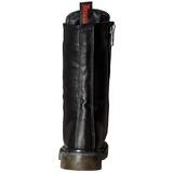 Skóra Ekologiczna 3,5 cm RIVAL-300 Czarne buty z koronki punk