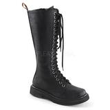Skóra Ekologiczna 3,5 cm RIVAL-400 Czarne buty z koronki punk