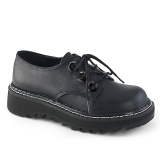 Skóra Ekologiczna 3 cm LILITH-99 Czarne buty z koronki punk
