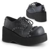 Skóra Ekologiczna 8 cm DANK-110 buty gotyckie damskie na platformie