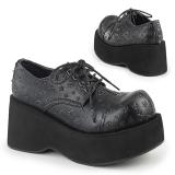 Skóra Ekologiczna 8 cm DANK-111 buty gotyckie damskie na platformy
