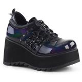 Skóra Ekologiczna 8 cm SCENE-31 buty gotyckie damskie na platformie