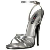 Srebrne 15 cm DOMINA-108 fetysz buty na obcasie