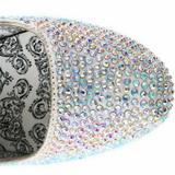 Srebrne Kamieniami 14,5 cm Burlesque TEEZE-06R czółenka na wysokim obcasie